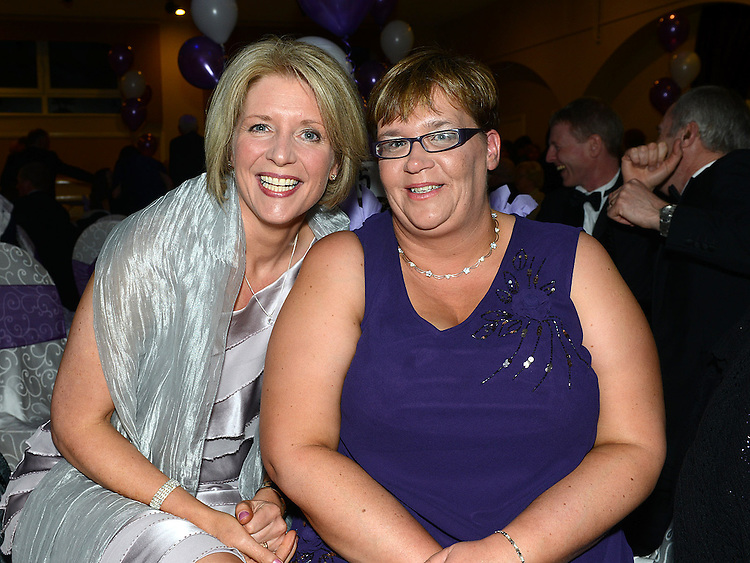 Siobhan Hackett and Liz Doyle pictured at the Cystic Fibrosis gala ball in the Grove Hotel Dunleer. Photo:Colin Bell/pressphotos.ie