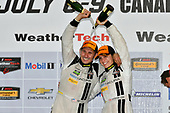 IMSA WeatherTech SportsCar Championship<br /> Mobil 1 SportsCar Grand Prix<br /> Canadian Tire Motorsport Park<br /> Bowmanville, ON CAN<br /> Sunday 9 July 2017<br /> 93, Acura, Acura NSX, GTD, Andy Lally, Katherine Legge, celebrate, champagne, victory lane<br /> World Copyright: Scott R LePage/LAT Images