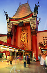 Graumans Chinese Theater on Hollywood Blvd. at night