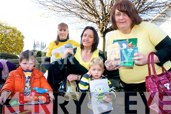 BEE FOR BATTENS: Announcing details of a jumble sale for Battens at Ballyheigue Community Centre, front l-r: David Slattery, JP Godley. Back l-r: Siobhan Sheehy Slattery, Lucy Godley, Margaret Dineen.