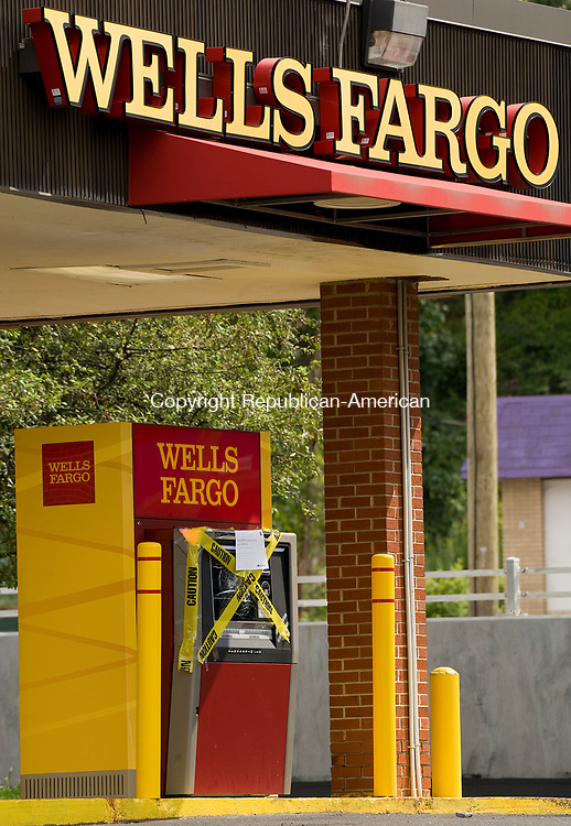 WATERBURY, CT-0712817JS01--Someone attempted to break into the drive-up ATM at the Wells Fargo Bank on Chase Avenue in Waterbury. <br />   Jim Shannon Republican-American