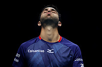 15th November 2019; 02 Arena. London, England; Nitto ATP Tennis Finals; Robert Farah (COL) reacts as his shot goes out in his doubles  match against Kevin Krawietz (GER) and Andreas Mies (GER) - Editorial Use