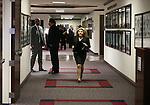 Nevada Assemblywoman Michele Fiore, R-Las Vegas, runs between chambers to help get a bill processed as the final chaotic minutes of the session tick down at the Legislative Building in Carson City, Nev., on Monday, June 1, 2015.<br /> Photo by Cathleen Allison