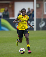 Rinsola Babajide of Watford Ladies during the FAWSL2 spring series match between Oxford United Women and Watford Ladies at The NorthCourt, Abingdon FC, England on 30 April 2017. Photo by Andy Rowland.