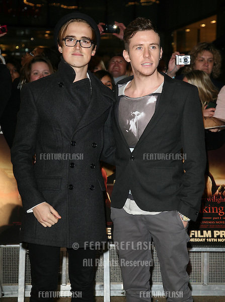 McFly arriving for the UK premiere of The Twilight Saga: Breaking Dawn Part 1 at Westfield Stratford City, London. 17/11/2011 Picture by: Alexandra Glen / Featureflash