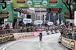 Bauke Mollema (NED) Trek-Segafredo wins solo the 113th edition of Il Lombardia 2019 running 243km from Bergamo to Como, Italy. 12th Octobre 2019. <br /> Picture: Marco Alpozzi/LaPresse | Cyclefile<br /> <br /> All photos usage must carry mandatory copyright credit (© Cyclefile | LaPresse/Marco Alpozzi)