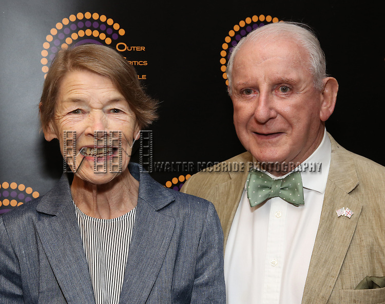 Glenda Jackson and Lionel Larner attends the 2018 Outer Critics Circle Theatre Awards at Sardi's on May 24, 2018 in New York City.