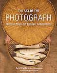 """The Art of the Photograph: <br /> $29.99<br /> Essential Habits for Stronger Compositions<br /> <br /> Photographs by Art Wolfe, text by Rob Sheppard, and forward by Dewitt Jones.<br /> <br /> Paperback<br /> <br /> http://store.artwolfe.com/index.php?main_page=product_info&cPath=2&products_id=509<br /> <br /> Description:<br /> <br /> Featuring more than 200 of master photographer Art Wolfe's stunning images, The Art of the Photograph helps amateur photographers of all levels break bad habits and shatter common yet incorrect assumptions that hold many photographers back and, transforming your photography in the process.<br /> <br /> This is Wolfe's ultimate master class, sharing the most important insights and techniques learned in four decades of award-winning photography. Along with co-author Rob Sheppard, Wolfe challenges us to stop focusing on subjects we feel we should photograph and instead, to """"see like a camera sees,"""" seek out a personal point of view, and construct stunning, meaningful images<br /> <br /> You'll also learn how to:<br /> <br /> Reexamine prejudices that define (and limit) what you photograph<br /> See beyond the subject to let light and shadow lead you to the right image<br /> Find inspiration, including the story behind Wolfe's own photographic journey.<br /> Use formal art principles to build more compelling images.<br /> Choose the right camera and lens for the image you see in your mind's eye.<br /> Recognize the 10 deadly sins of composition—and how to avoid them.<br /> …and even get a behind-the-lens look at Wolfe's equipment and workflow."""