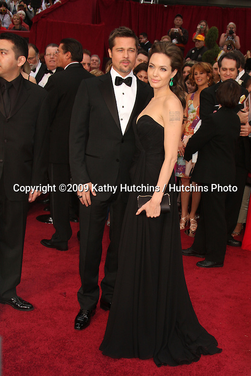 Brad Pitt & Angelina Jolie   arriving at the 81st Academy Awards at the Kodak Theater in Los Angeles, CA  on.February 22, 2009.©2009 Kathy Hutchins / Hutchins Photo...                .