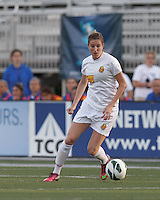 Western New York Flash forward Adriana Martin (8) controls the ball. In a National Women's Soccer League Elite (NWSL) match, the Boston Breakers (blue) tied Western New York Flash (white), 2-2, at Dilboy Stadium on June 5, 2013.