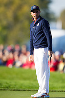 Richie Fowler (Team USA) on the 6th during the Saturday morning Foursomes at the Ryder Cup, Hazeltine national Golf Club, Chaska, Minnesota, USA.  01/10/2016<br /> Picture: Golffile | Fran Caffrey<br /> <br /> <br /> All photo usage must carry mandatory copyright credit (&copy; Golffile | Fran Caffrey)