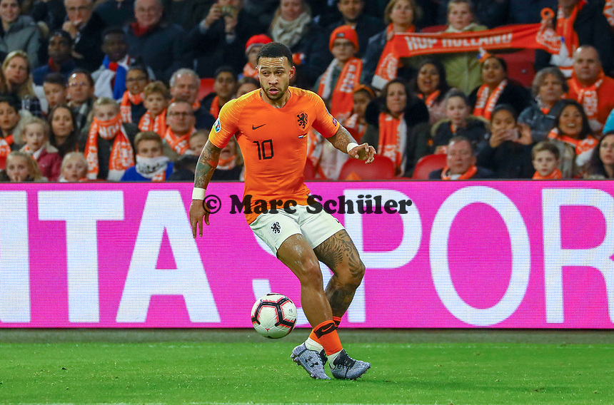 Memphis Depay (Niederlande) - 24.03.2019: Niederlande vs. Deutschland, EM-Qualifikation, Amsterdam Arena, DISCLAIMER: DFB regulations prohibit any use of photographs as image sequences and/or quasi-video.