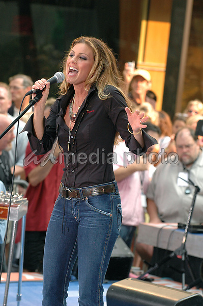 05 August 2005 - New York, New York - Country superstar Faith Hill performs in concert at the NBC Today Show at Rockefeller Center in Manhattan.  <br />Photo Credit: Patti Ouderkirk/AdMedia