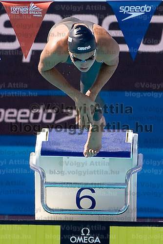 Zsuzsanna Jakabos (HUN) competes in 400 m Women's Individual Medley Swimming competition during the 13th FINA Swimming World Championships held in Rome, Italy. Sunday, 02. August 2009. ATTILA VOLGYI