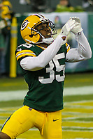 Green Bay Packers safety Jermaine Whitehead (35) during a National Football League game against the Minnesota Vikings on December 23rd, 2017 at Lambeau Field in Green Bay, Wisconsin. Minnesota defeated Green Bay 16-0. (Brad Krause/Krause Sports Photography)