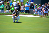 David Lingmerth (SWE) lines up his putt on 9 during round 2 of the Dean &amp; Deluca Invitational, at The Colonial, Ft. Worth, Texas, USA. 5/26/2017.<br /> Picture: Golffile | Ken Murray<br /> <br /> <br /> All photo usage must carry mandatory copyright credit (&copy; Golffile | Ken Murray)