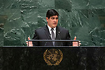General Assembly Seventy-fourth session, 5th plenary meeting<br /> <br /> His Excellency Carlos Alvarado Quesada, President, Republic of Costa Rica