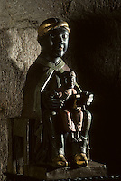 Europe/France/Limousin/Corrèze/Meymac : Vierge Noire dans l'Abbaye