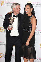Tom Courteny and Georgina Campbell<br /> in the winners room at the 2016 BAFTA TV Awards, Royal Festival Hall, London<br /> <br /> <br /> &copy;Ash Knotek  D3115 8/05/2016