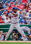 1 August 2018: New York Mets infielder Jose Reyes in action against the Washington Nationals at Nationals Park in Washington, DC. The Nationals defeated the Mets 5-3 to sweep the 2-game weekday series. Mandatory Credit: Ed Wolfstein Photo *** RAW (NEF) Image File Available ***