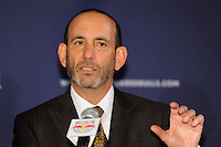 Major League Soccer Commissioner Don Garber during a New York Red Bulls press conference at Red Bull Arena in Harrison, NJ, on August 03, 2010.