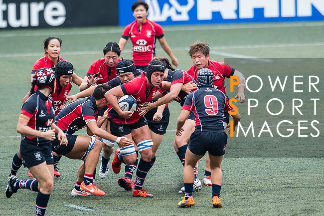 Amelie Saure of Lions (C) in action during the Women's National Super Series 2017 on 13 May 2017, in Hong Kong Football Club, Hong Kong, China. Photo by Marcio Rodrigo Machado / Power Sport Images