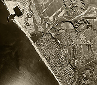 historical aerial photograph Oceanside, California, 1946