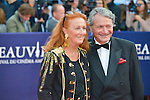 Philippe Augier and his wife attends the 41st Deauville American Film Festival Opening Ceremony on September 4, 2015 in Deauville, France.