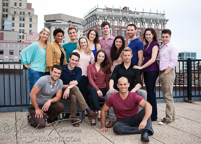 Brown/Trinity Rep Class of 2013 on the roof of the Peerless lofts in Providence, RI on Friday, September 21, 2012.   Kristen Pierson
