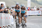Mikael Cherel and Alexis Vuillermoz (FRA) AG2R La Mondiale summit the Col de Peyresourde during Stage 8 of Tour de France 2020, running 141km from Cazeres-sur-Garonne to Loudenvielle, France. 5th September 2020. <br /> Picture: Colin Flockton | Cyclefile<br /> All photos usage must carry mandatory copyright credit (© Cyclefile | Colin Flockton)