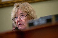 United States Representative Zoe Lofgren (Democrat of California) delivers opening remarks as Tom Burt, President and CEO of Election Systems & Software, Julie Mathis, President and CEO of Hart InterCivic, and John Poulos, President and CEO of Dominion Voting Systems, testify before the United States Committee on House Administration on Capitol Hill in Washington D.C., U.S., on Thursday, January 9, 2020.  Dominion Voting Systems, Hart InterCivic, and Election Systems and Software, the three largest voting equipment producers in the United States, have faced criticism from lawmakers following Russian interference in the 2016 election.<br /> <br /> Credit: Stefani Reynolds / CNP/AdMedia