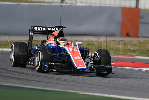 03.03.2016. Barcelona, Spain. Formula 1 Winter Testing at Circuit de Barcelona Catalunya Test 2 Day 3.  Manor Racing MRT05 – Pascal  Wehrlein