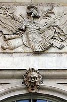 Dettaglio esterno della Loggia dei Mercanti a Genova.<br /> Exterior detail of the Loggia dei Mercanti in Genoa.<br /> UPDATE IMAGES PRESS/Riccardo De Luca