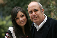 "Lo scrittore e regista Federico Moccia, a destra, posa con l'attrice Michela Quattrociocche durante un photocall a Roma, 21 gennaio 2008, per la presentazione del suo film ""Scusa ma ti chiamo amore"", basato sul suo romanzo omonimo..Italian writer and director Federico Moccia, right, poses with actress Michela Quattrociocche during a photocall in Rome, 21 january 2008, for the presentation of his movie ""Scusa ma ti chiamo amore"" (Sorry if I love you), based on his homonymous novel..UPDATE IMAGES PRESS/Riccardo De Luca"