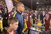 September 8th 2017, Stade Saint-Symphorien, Metz, France; French League 1 football, Metz versus Paris St Germain;   KYLIAN MBAPPE (psg) enters the pitch