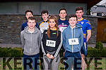 Front L-R Sean Brosnan, Alison Jones and William Brosnan, Back L-R Paul Walsh, Sean Brosnan, Daniel Culloty and Dylan O'Donoghue from Joint Transition Year Class Presentation and St Patricks School in Castleisland at the Good Friday 5 miles run in Killarney last Friday.