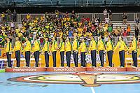 TORONTO, CANADA, 24.07.2015 - PAN-HANDBALL - Jogadoras do Brasil no pódio após partida contra Argentina na final do Handball Feminino no Centro de Exposições de Toronto nesta sexta-feira, 24.  (Foto: William Volcov/Brazil Photo Press)