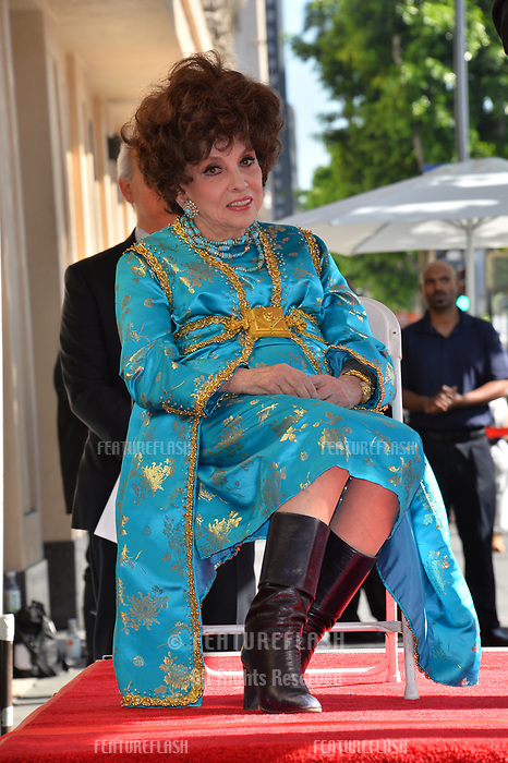 Gina Lollobrigida at the Hollywood Walk of Fame Star Ceremony honoring actress Gina Lollobrigida, Los Angeles, USA 01 Feb. 2018<br /> Picture: Paul Smith/Featureflash/SilverHub 0208 004 5359 sales@silverhubmedia.com