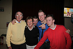 Anthony English celebrates his 21th with Parents Tony and Patricia and Brothers Jack and Shaun in the Star and Crescent.Pic Fran Caffrey/newsfile.ie