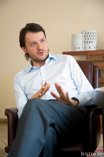 Russian billionaire Sergei Gordeev at his office in Moscow