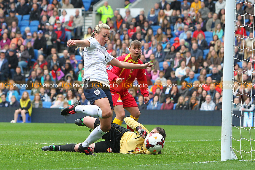 Toni Duggan scores the second goal for England - England Women vs Montenegro Women - FIFA Womens World Cup 2015 Qualifying Group 6 Football at The Amex, Falmer Stadium, Brighton & Hove Albion FC - 05/04/14 - MANDATORY CREDIT: Gavin Ellis/TGSPHOTO - Self billing applies where appropriate - 0845 094 6026 - contact@tgsphoto.co.uk - NO UNPAID USE