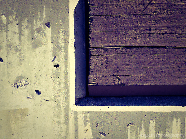 Abstract of linear square shapes with purple tint