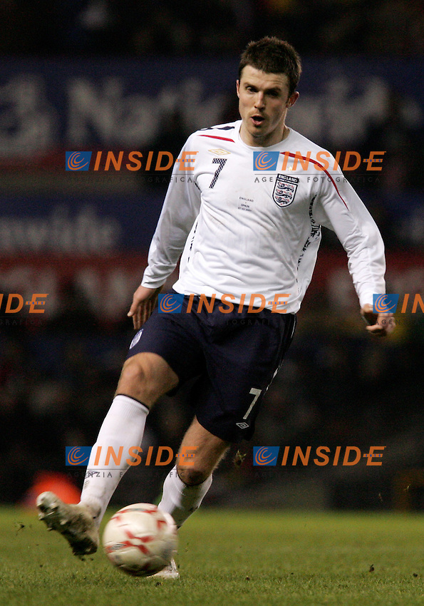 England's Michael Carrick during a friendly match at Old Trafford in Manchester, Wednesday February 07, 2007. (INSIDE/ALTERPHOTOS/Alvaro Hernandez).