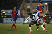 Marc-Anthony Okoye of Bromley and Dagenham's Conor Wilkinson challenge for the ball during Bromley vs Dagenham & Redbridge, Vanarama National League Football at the H2T Group Stadium on 24th November 2018
