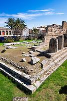 Sicily, Temple of Apollo (Tempio di Apollo), Ortigia (Ortygia), Syracuse (Siracusa), UNESCO World Heritage Site, Sicily, Italy, Europe. This is a photo of The Temple of Apollo (Tempio di Apollo) on Ortigia (Ortygia), Syracuse (Siracusa), UNESCO World Heritage Site, Sicily, Italy, Europe.