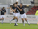 13/09/2008  Copyright Pic: James Stewart.File Name : sct_jspa02_falkirk_v_hearts.NEIL MCCANN CELEBRATES WITH MICHAEL HIGDON AFTER HE SCORES FALKIRK'S FIRST.James Stewart Photo Agency 19 Carronlea Drive, Falkirk. FK2 8DN      Vat Reg No. 607 6932 25.James Stewart Photo Agency 19 Carronlea Drive, Falkirk. FK2 8DN      Vat Reg No. 607 6932 25.Studio      : +44 (0)1324 611191 .Mobile      : +44 (0)7721 416997.E-mail  :  jim@jspa.co.uk.If you require further information then contact Jim Stewart on any of the numbers above........