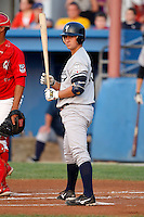 August 15, 2009:  Catcher Kyle Higashioka of the Staten Island Yankees during a game at Dwyer Stadium in Batavia, NY.  Staten Island is the Short-Season Class-A affiliate of the New York Yankees.  Photo By Mike Janes/Four Seam Images