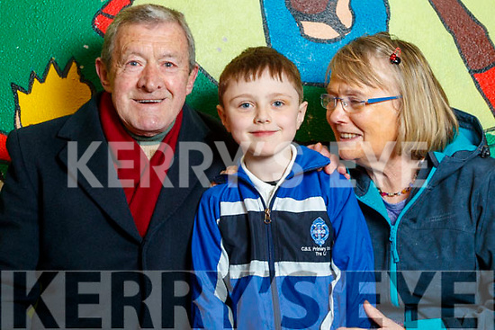 John Dowling, Sean Dowling and Joan O'Connor, all from Tralee, enjoying grandparents day at CBS Primary School, Tralee, on Wednesday morning last.
