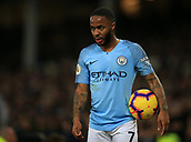 6th February 2019, Goodison Park, Liverpool, England; EPL Premier League Football, Everton versus Manchester City; Raheem Sterling of Manchester City