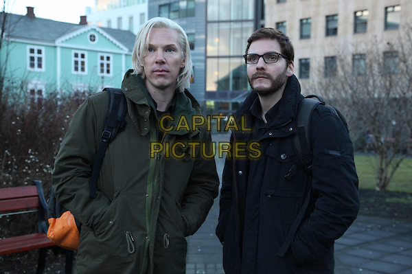 Benedict Cumberbatch, Daniel Bruhl<br /> in The Fifth Estate (2013) <br /> *Filmstill - Editorial Use Only*<br /> CAP/NFS<br /> Image supplied by Capital Pictures